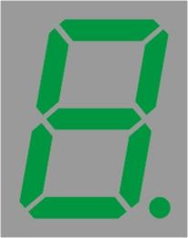 """Resim  1 DIJIT YESIL 14.20MM (0.56"""") ORTAK KATOT BRT-LED DISPLAY"""