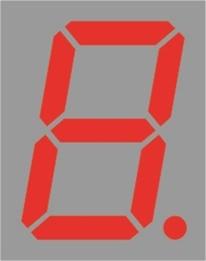 """Resim  1 DIJIT KIRMIZI 14.20MM (0.56"""") ORTAK KATOT BRT-LED DISPLAY"""