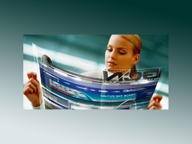 Kategori İçin Resim Gazete ve Dergi Yapımı İçin Geliştirilen Esnek LCD