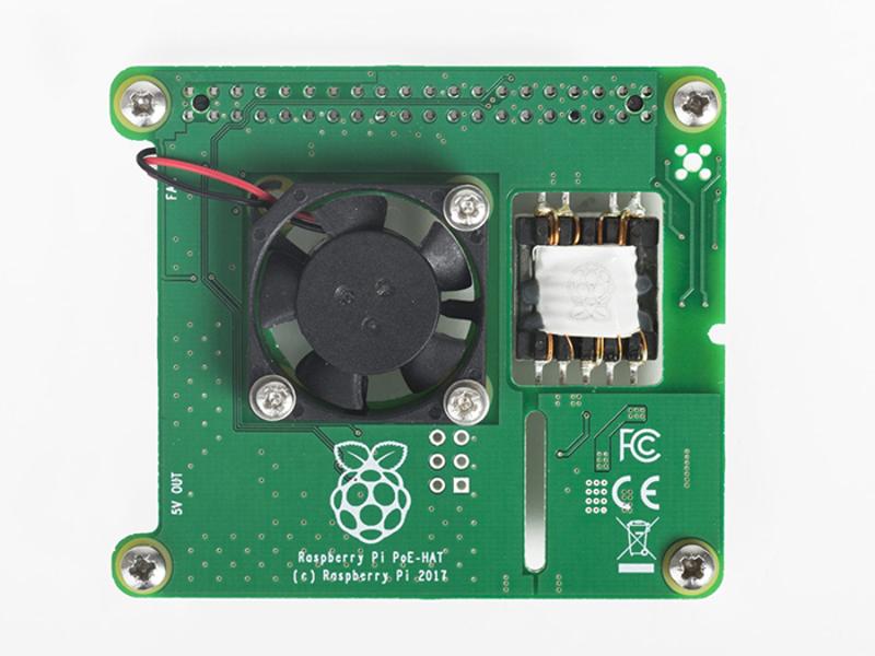 Kategori İçin Resim Raspberry Pi Ethernet Üzerinden Güç HAT (RPI3-MODBP-POE)