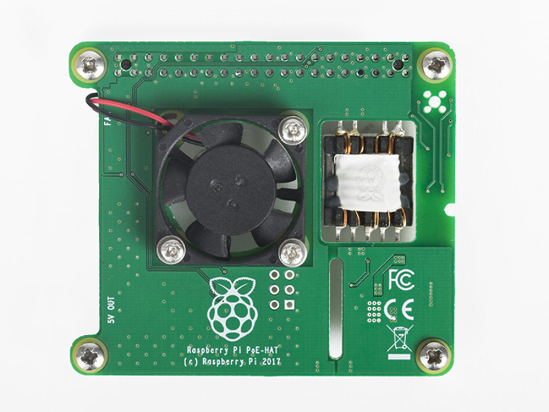 Picture for category Raspberry Pi Power over Ethernet HAT (RPI3-MODBP-POE)
