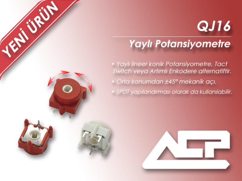 Kategori İçin Resim ACP QJ16 Serisi Yeni Yaylı Potansiyometreyi Tanıttı!