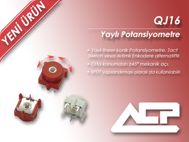 Picture for category ACP Introduces New Spring-loaded Potentiometer Series QJ16!