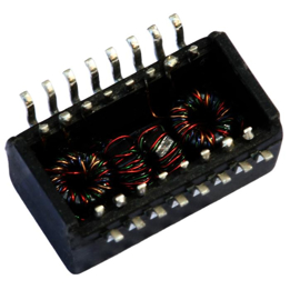 Picture of TRANSFORMER MODULE 350uH 1:1 Transmitter, 1:1 Receiver SMD T&R YCL