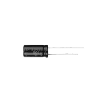 Picture of C-ALU 2.2uF 100V M ±20% 2000 Hrs @ 105°C 5x11 R=5 Radial TH T&R Suscon