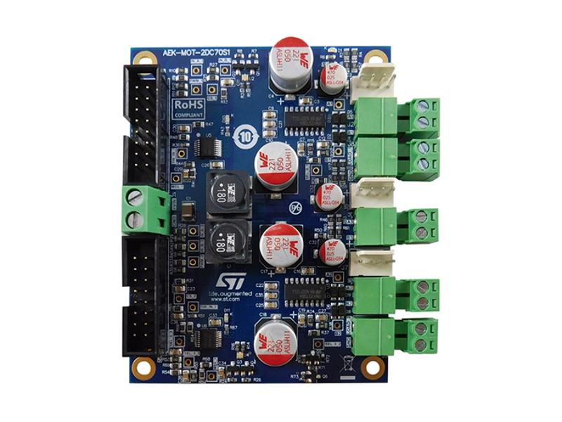 Kategori İçin Resim STMicroelectronics AEK-MOT-2DC70S1 Otomotiv Çift DC Motor Sürücüsü
