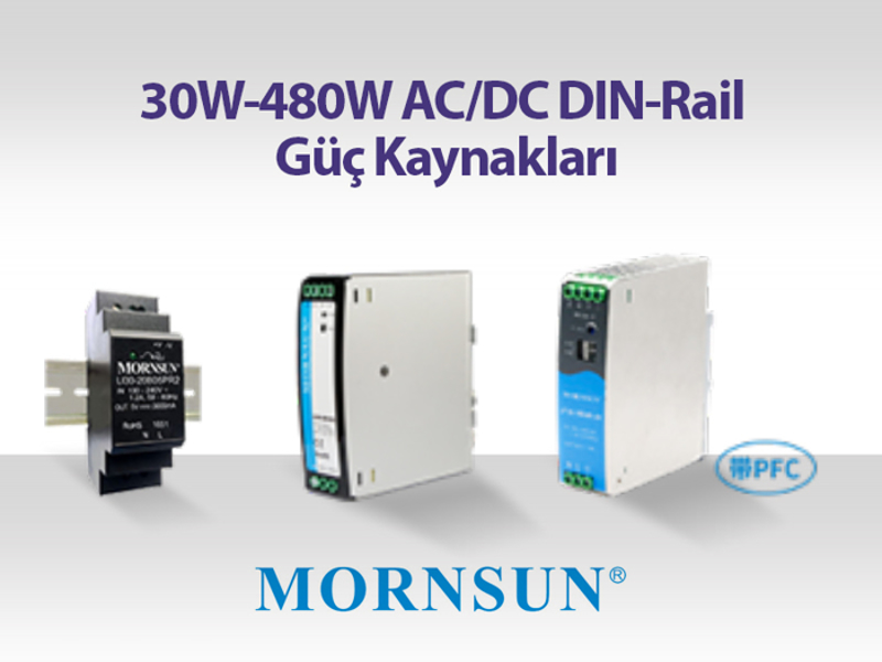 Kategori İçin Resim 30W-480W AC/DC DIN-Rail Güç Kaynakları