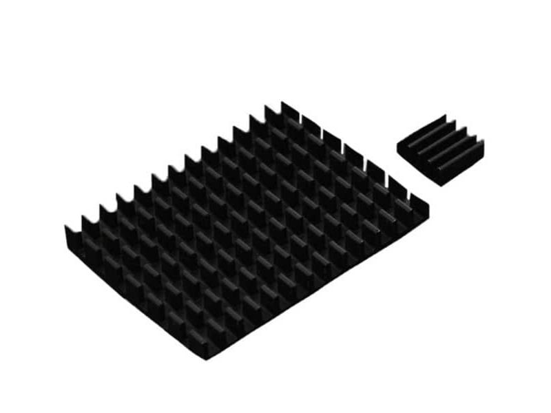 Kategori İçin Resim Raspberry Pi 4B için DFRobot Siyah Alüminyum Soğutucu Kiti