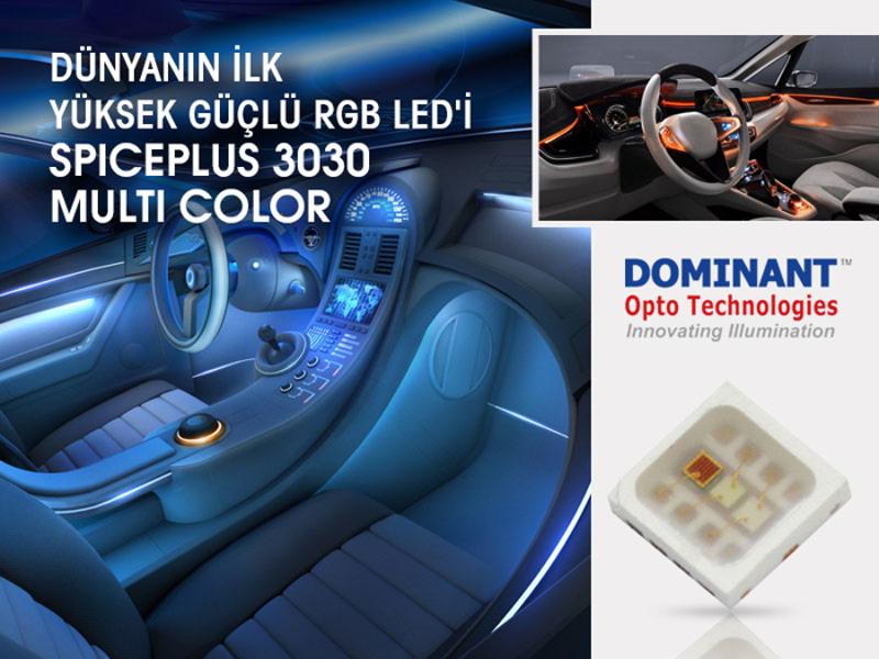 Kategori İçin Resim Dünyanın İlk Yüksek Güçlü RGB LED'i SpicePlus 3030 Multi Color